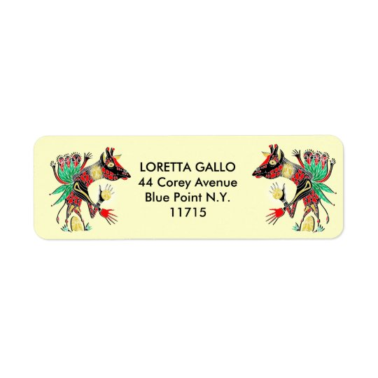 momma label. return address label