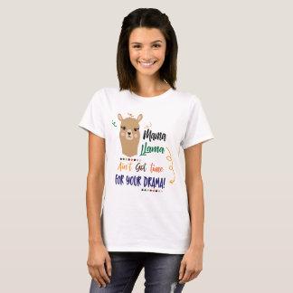 Momma Llama Drama word art womens t-shirt