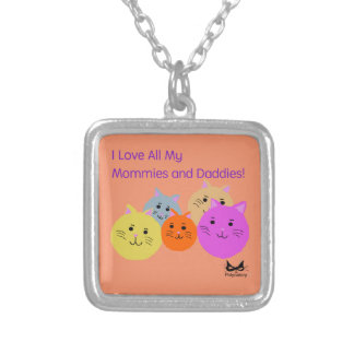 Mommies and Daddies Polyamory Family Products Silver Plated Necklace