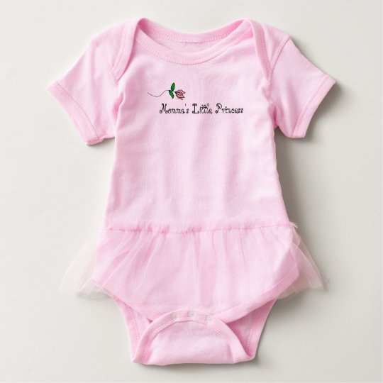 Momm's Little Princess Pink Flower Design Baby Bodysuit