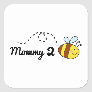 Mommy 2 Bee Square Sticker
