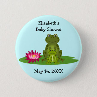 Mommy and Baby Frog Theme Baby Shower Favors 2 Inch Round Button