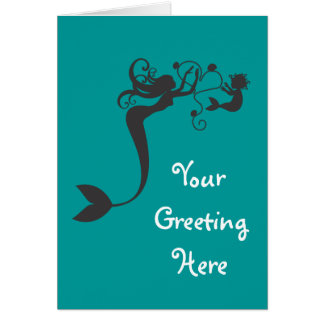 Mommy and baby Mermaids Greeting Card