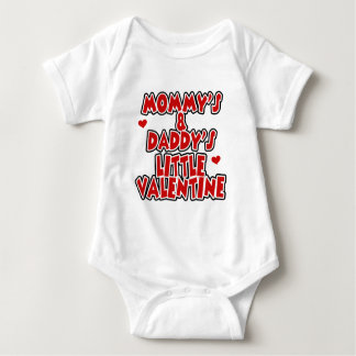 Mommy and Daddy's Little Valentine Baby Bodysuit