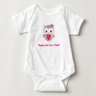 Mommy and I are a Hoot! Pink Owl Baby Romper