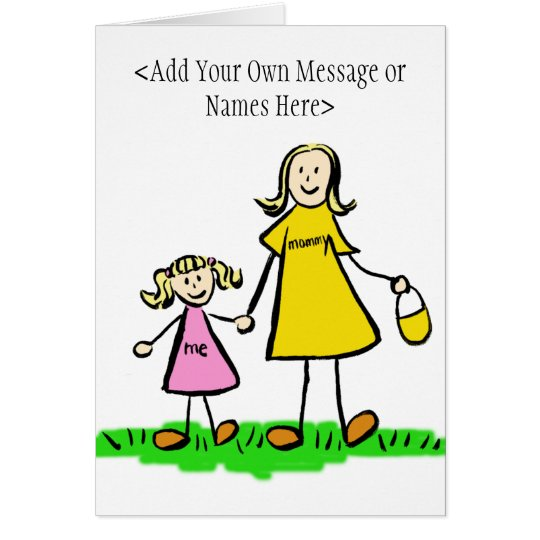 Mommy and Me Blonde Card (Customize Message)