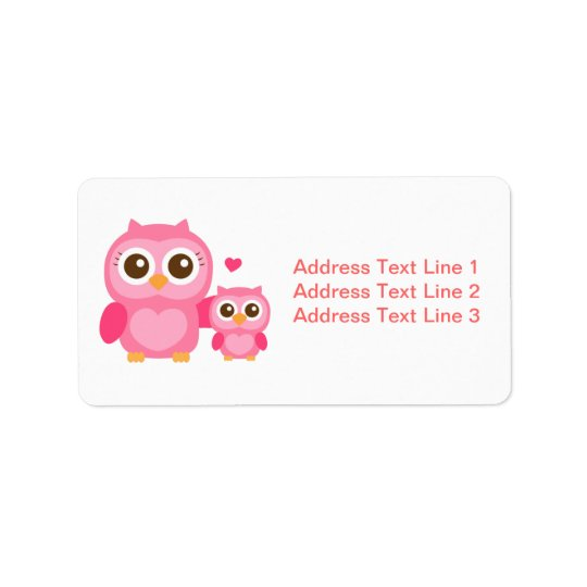 Mommy and Me, Cute Baby Owl, Pink