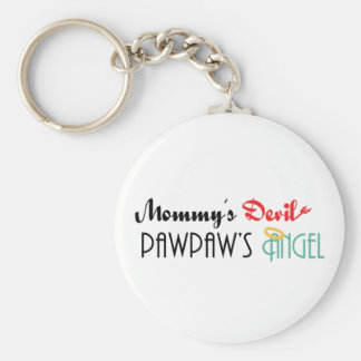 Mommy's Devil, PawPaw's Angel Keychain