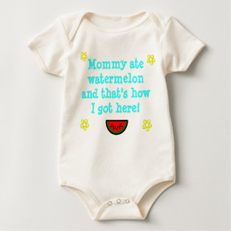Mommy ate Watermelon  Infant Sleeper T-Shirt