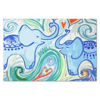 Mommy baby elephant tissue paper