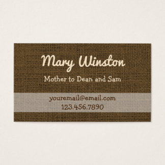 Mommy Calling Cards | Rustic Burlap Sons