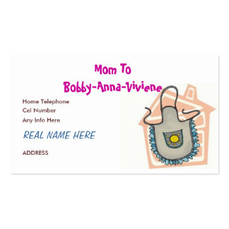 MOMMY CARD 3 BUSINESS CARD TEMPLATE