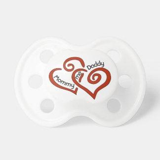 Mommy, Daddy, and Me Valentine Heart Pacifier