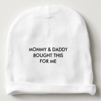 """Mommy & Daddy"" Baby Beanie"