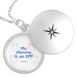 Mommy EMT Silver Plated Necklace