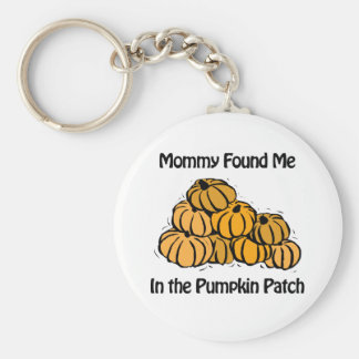 Mommy Found Me in A Pumpkin Patch Keychain