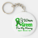 Mommy - Green  Awareness Ribbon Keychain
