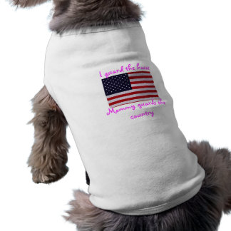 Mommy guards the country doggie tee shirt