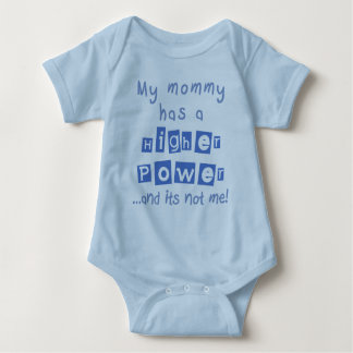 Mommy Has A Higher Power Infant Onesie- Blue Baby Bodysuit
