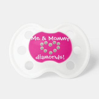 Mommy & Me Diamond Pacifier, pink Pacifier