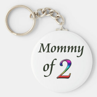 MOMMY OF 2 KEYCHAIN