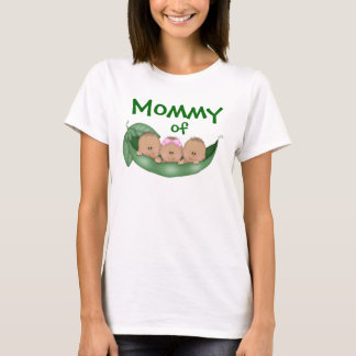 Mommy of Mixed Triplets with Darker Skin T-Shirt