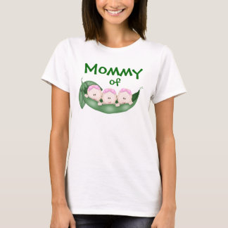 Mommy of Triplet Girls T-Shirt