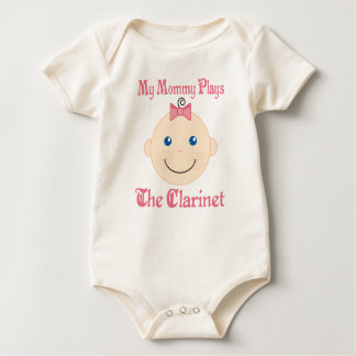 Mommy Plays The Clarinet Baby Tee