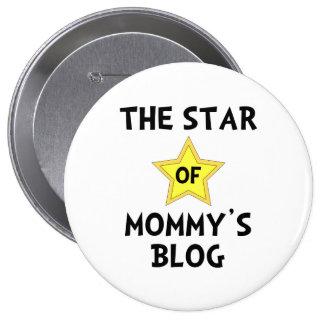 Mommy?s Blog Star 4 Inch Round Button