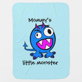Mommy's Little Monster- Blue Version Baby Blanket