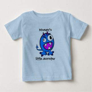Mommy's Little Monster- Blue Version Baby T-Shirt