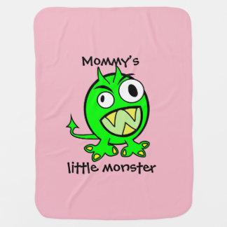 Mommy's Little Monster- Green Version Baby Blanket