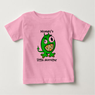 Mommy's Little Monster- Green Version Baby T-Shirt