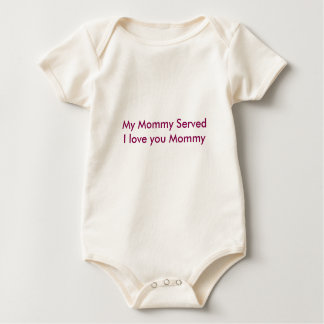 Mommy Served Baby Bodysuit
