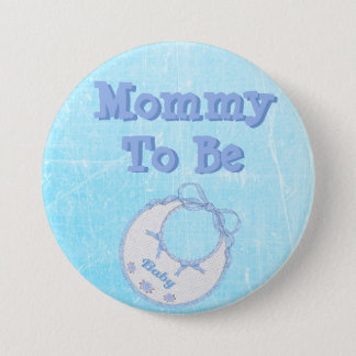Mommy to be baby boy blue baby shower Button