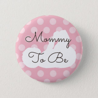 Mommy to be Baby Shower Button Pink & Black