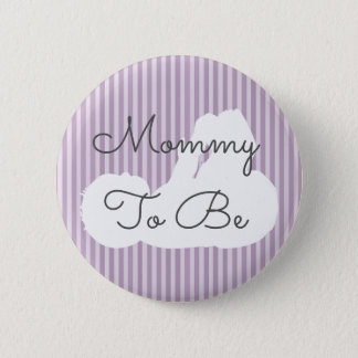 Mommy to be Baby Shower Button Purple