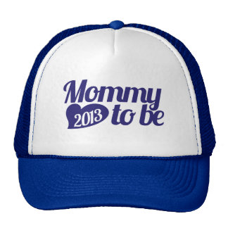 Mommy to be in 2013 trucker hat