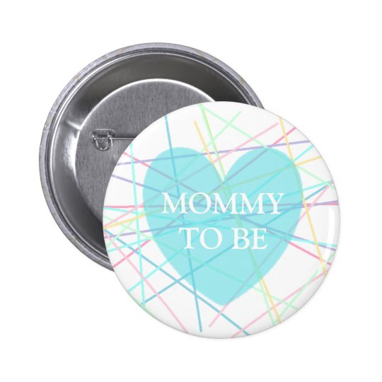 Mommy to be Pastel Lines Baby Shower Button