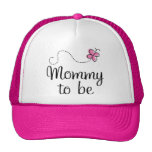 Mommy To Be Pink Butterfly Gift Trucker Hat