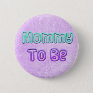 Mommy to Be Purple and Teal Baby Shower Button