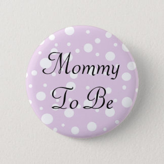 Mommy to be Purple Polka Dots Baby Shower Button