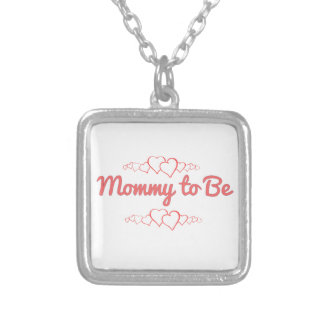 Mommy to Be Silver Plated Necklace
