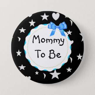 Mommy to be Stars, Moons and Heart Button