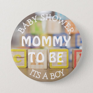 Mommy to be, Toy Wooden Blocks Baby Shower Button