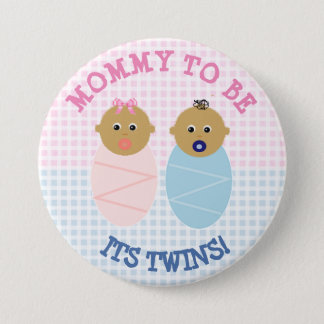 Mommy to Be Twin Boy and girl Baby Shower Button