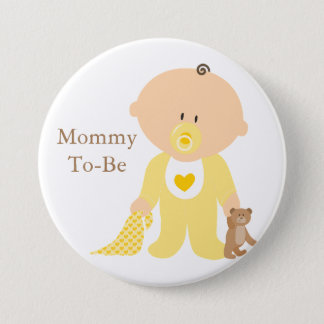 Mommy To Be Yellow Baby Button