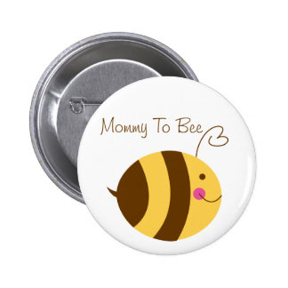 Mommy To Bee Baby Shower Button