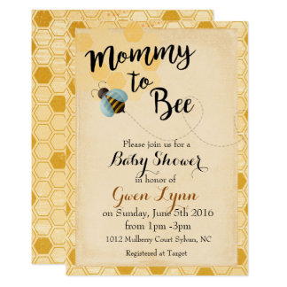 Mommy to Bee Baby Shower Invitation Bumble Bee