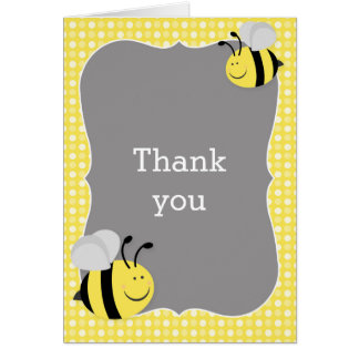 Mommy to Bee Baby Shower Thank You Note Card